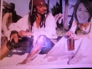 No, I have never actually been to the beach with Captain Jack Sparrow.